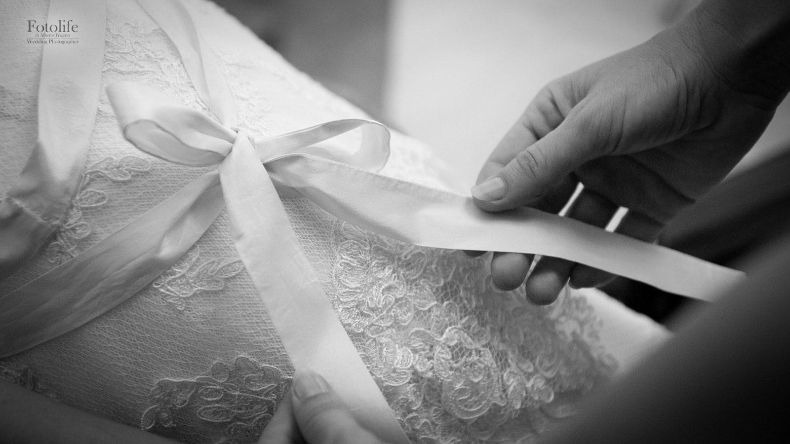 Fotografo matrimonio foto abito sposa