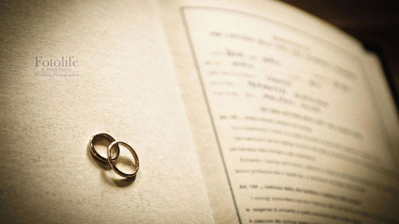 foto di matrimonio Como anelli