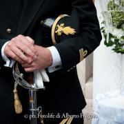 Foto dello sposo in alta uniforme Cernobbio Como