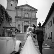 Foto della sposa arrivo chiesa con papà gioia sequenze immagini reportage